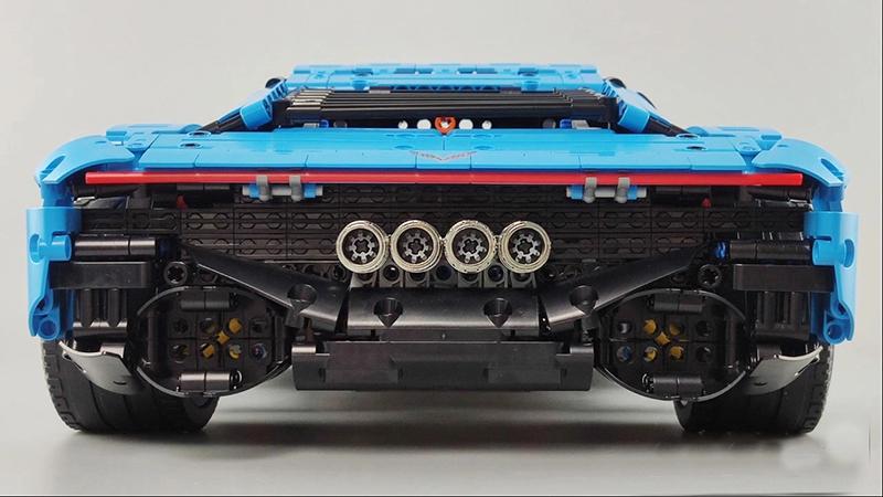 レゴ テクニック 互換品 シボレー コルベット デザイン アメリカンスーパーカー スポーツカー レースカー プレゼント クリスマス レースカー ラジコン 車 おもちゃ ブロック 互換品 知育玩具 入学 お祝い こどもの日
