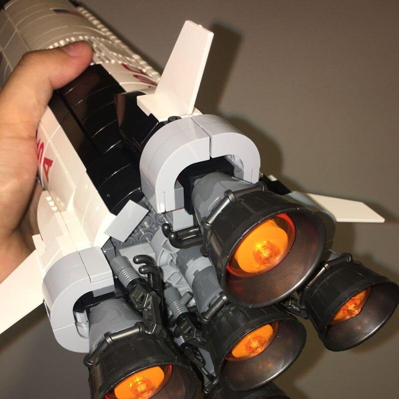 レゴ 互換品 アポロ計画 サターンV 発射塔セット 21309 スペースシャトル ロケット 宇宙旅行 建物 おもちゃ ブロック 知育玩具 入学 お祝い こどもの日