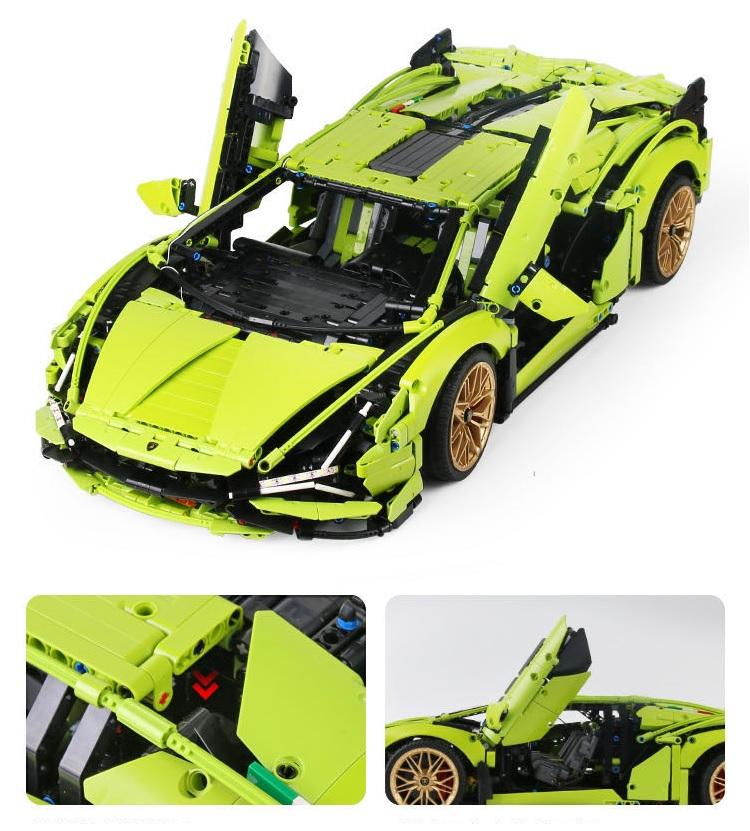 レゴ テクニック 互換品 ランボルギーニ シアン FKP37 デザイン スーパーカー スポーツカー レースカー 42115 プレゼント クリスマス レースカー ラジコン 車 おもちゃ ブロック 互換品 知育玩具 入学 お祝い こどもの日