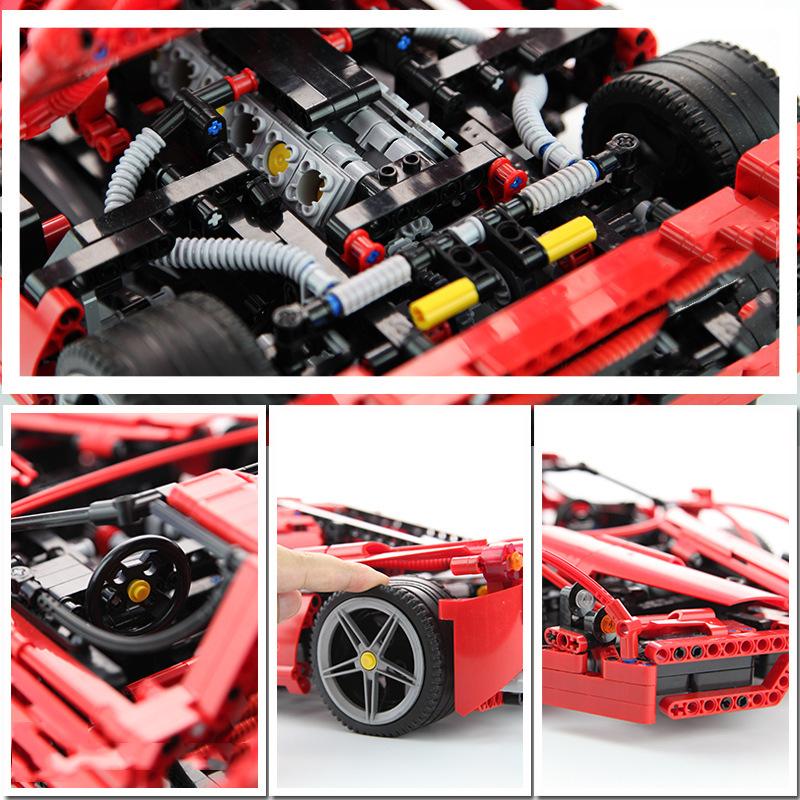 レゴ テクニック 互換品 エンツォフェラーリ デザイン スーパーカー スポーツカー レースカー プレゼント クリスマス レースカー 車 おもちゃ ブロック 互換品 知育玩具 入学 お祝い こどもの日
