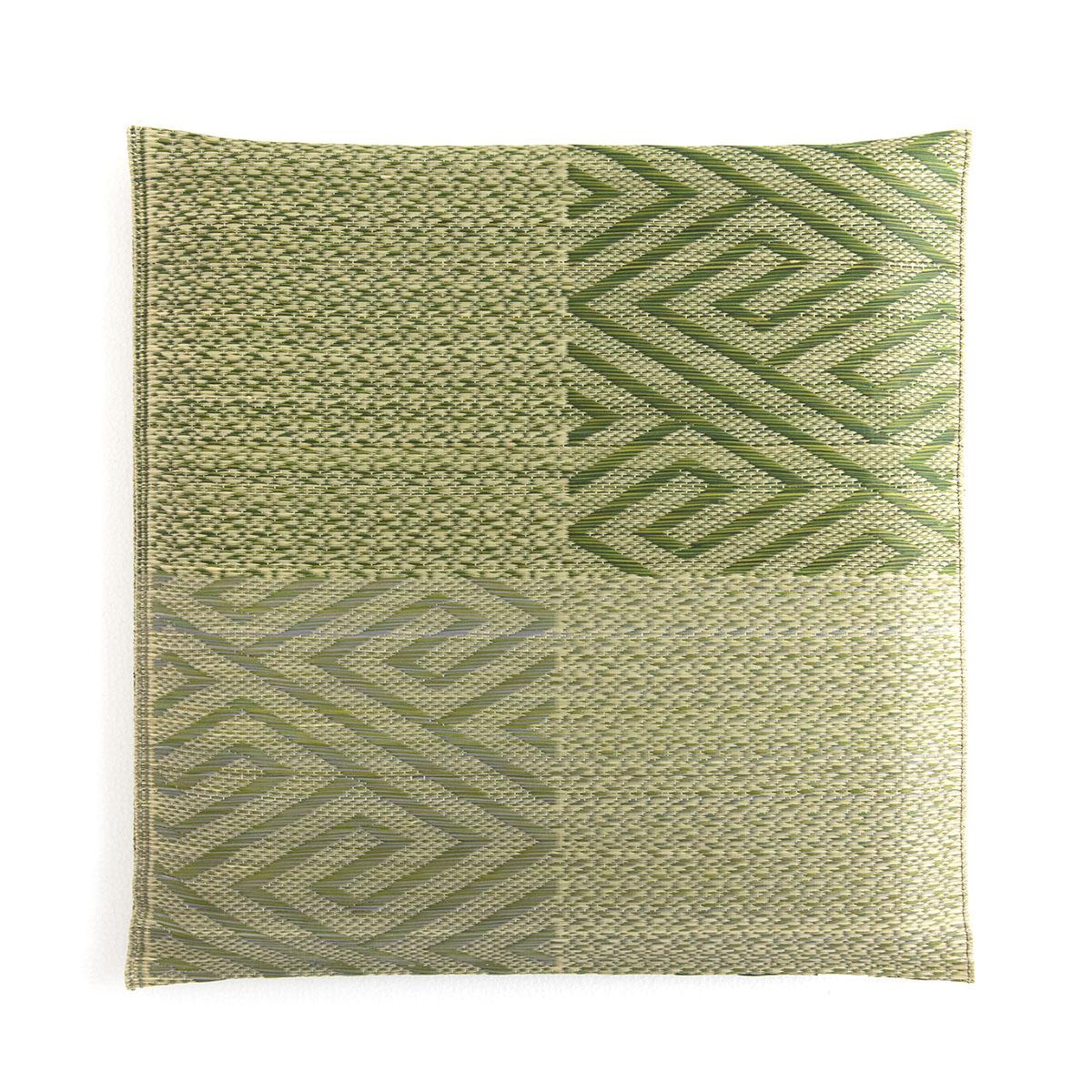 座布団 い草 座布団 日本製 「 五風 」 約55×55cm カラー:ブラウン、グリーン 日本製 捺染返し い草 自然素材 ざぶとん ザブトン 夏 和座布団 来客用