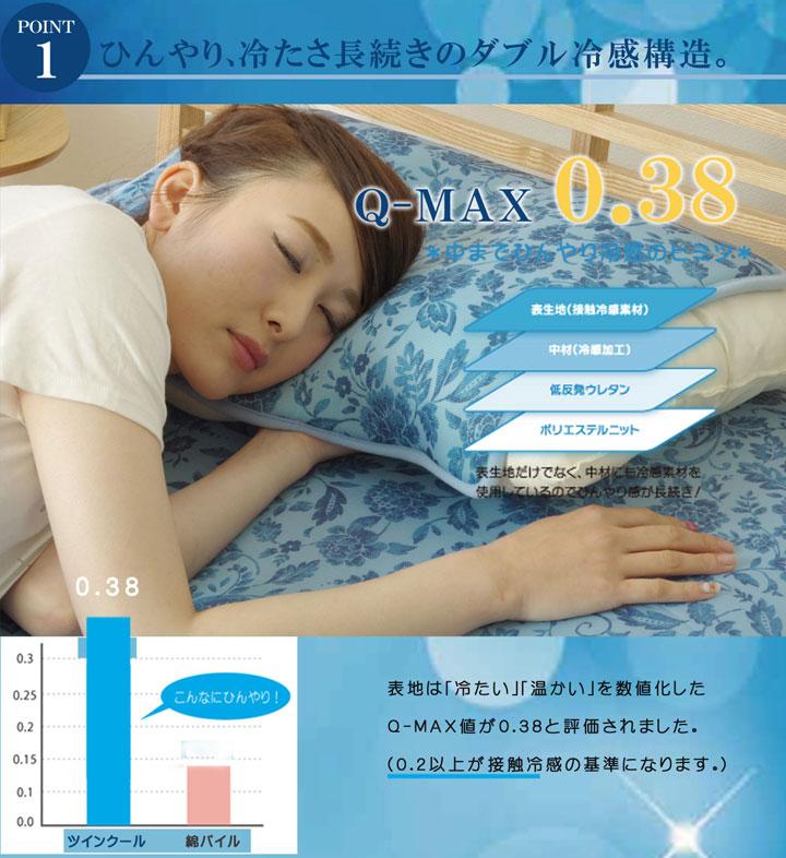 冷感マット ツインクール 枕パッド ごろ寝 【送料無料】