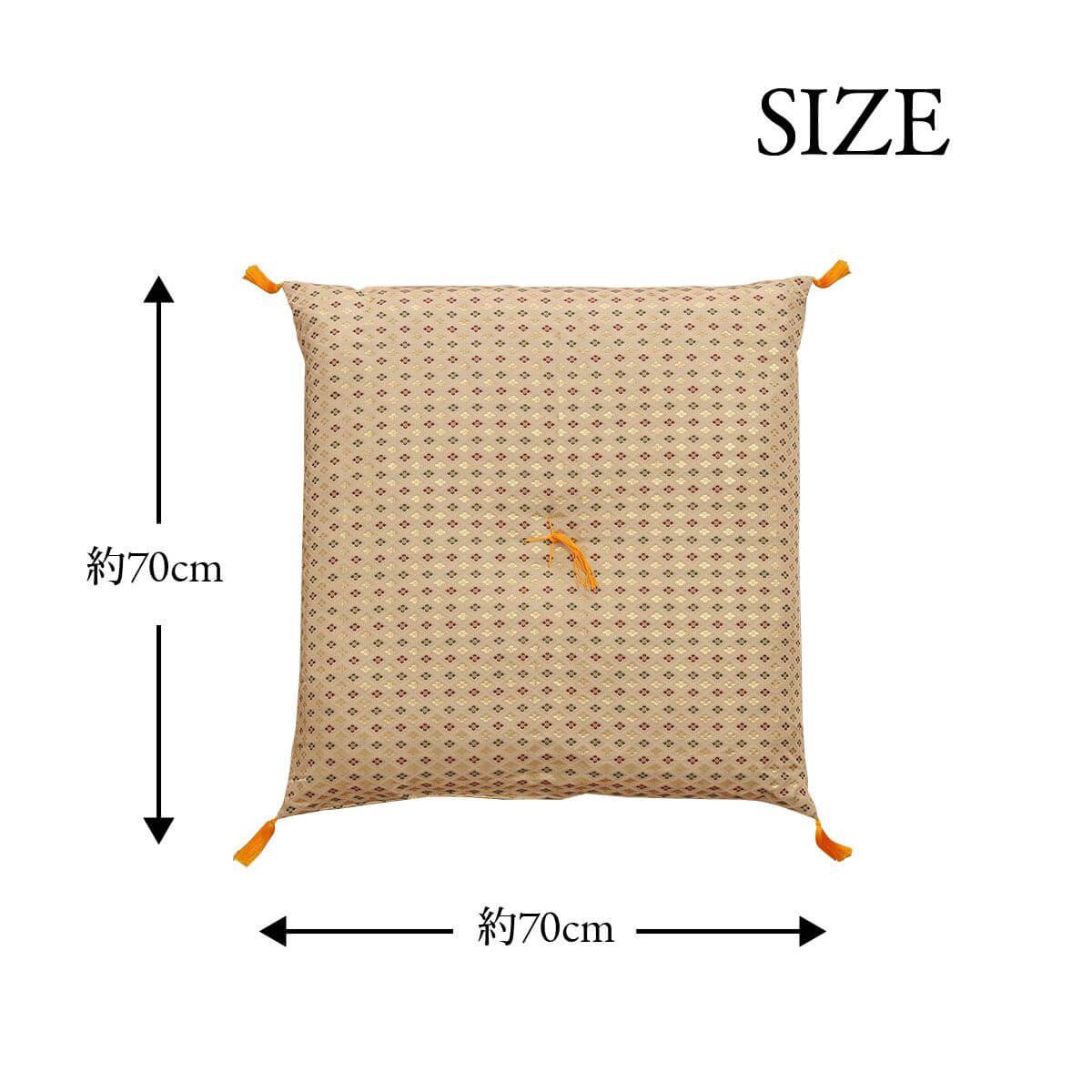 【送料無料】仏前座布団 低反発「 白虎 」約70×70cm