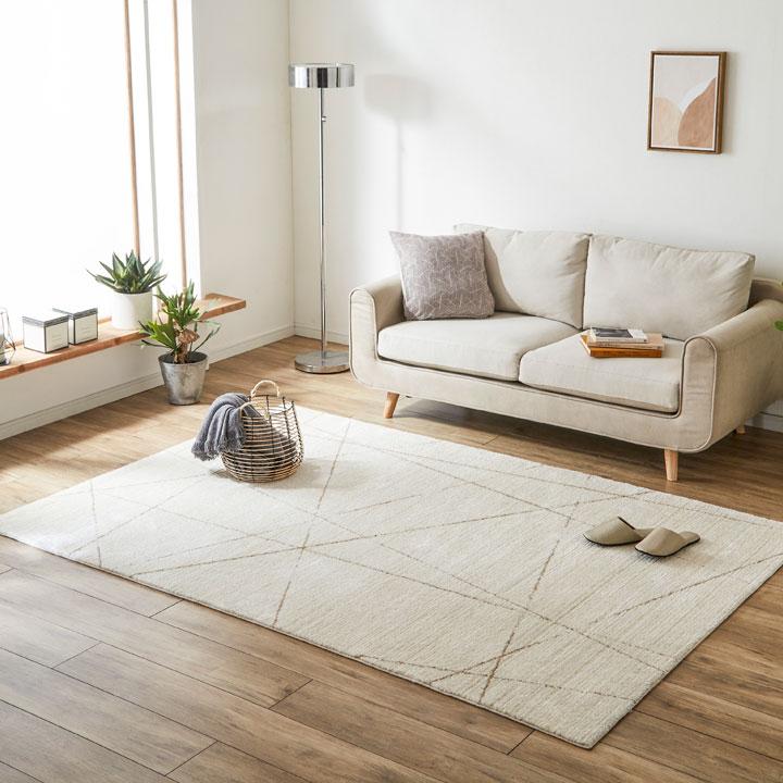 ウィルトンラグカーペット 絨毯 クォーツ 北欧 ラグマット おしゃれ かわいい リビング ダイニング センターラグ送料無料】