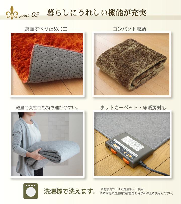 【送料無料】 ラグ カーペット 洗える レスト 正方形 長方形 電気カーペット セット