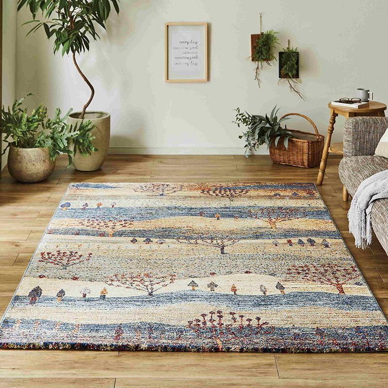 ウィルトンラグ カーペット 絨毯 エリウ トルコ製 北欧 ラグマット おしゃれ かわいい リビング ダイニング センターラグ【送料無料】