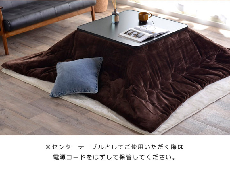 【送料無料】こたつテーブル 60×60cm ホワイト ブラック 両面使える リバーシブル