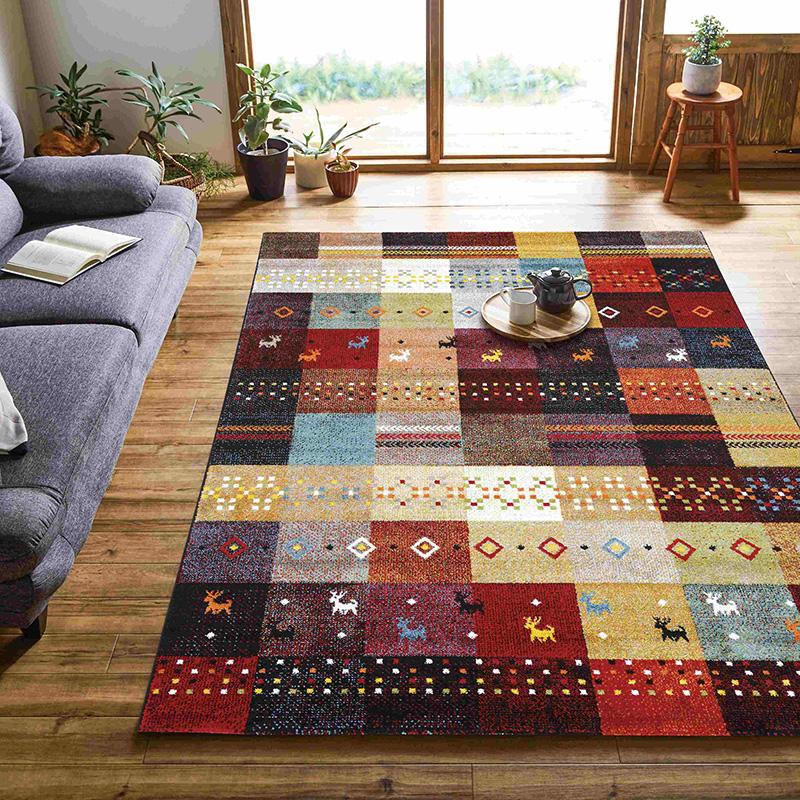 ウィルトンラグカーペット 絨毯 フォリア トルコ製 北欧 ラグマット おしゃれ かわいい リビング ダイニング センターラグ【送料無料】