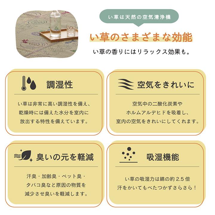 い草ラグカーペット NSまりねこ・こはる金魚【送料無料】