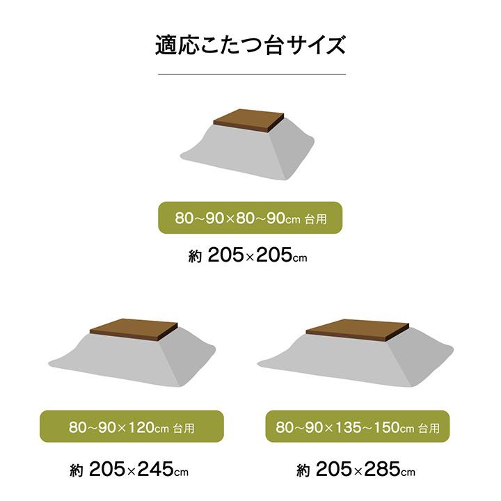 こたつ掛け布団 ムーブ おしゃれ かわいい 正方形 長方形 大判【送料無料】