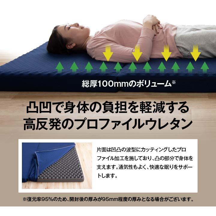 マットレス 2サイズ 高通気 消臭 ボリューム 【送料無料】