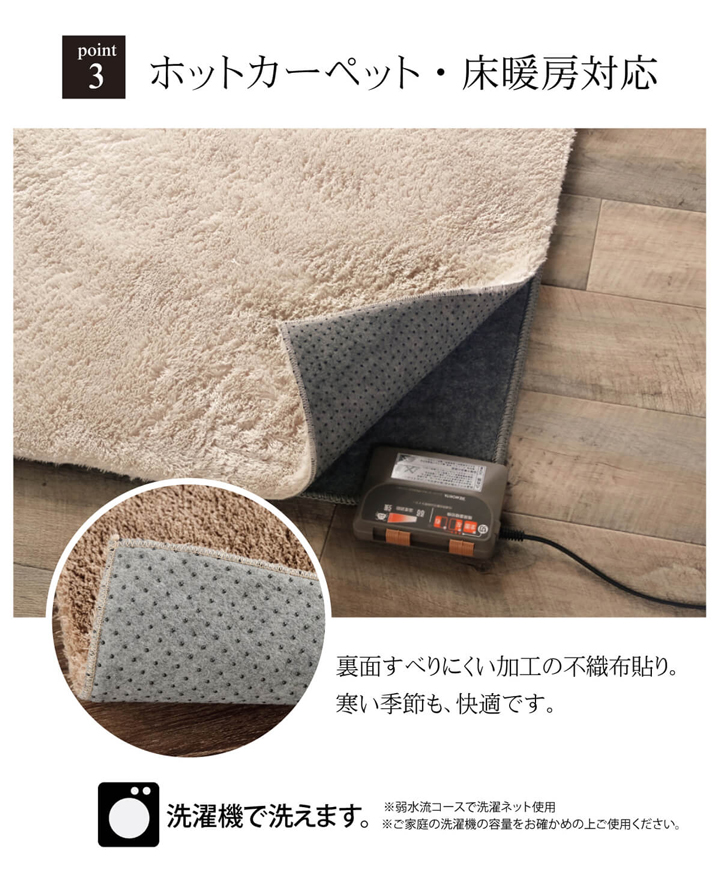 ホットカーペット本体セット ラグ カーペット ラルジュ 【送料無料】