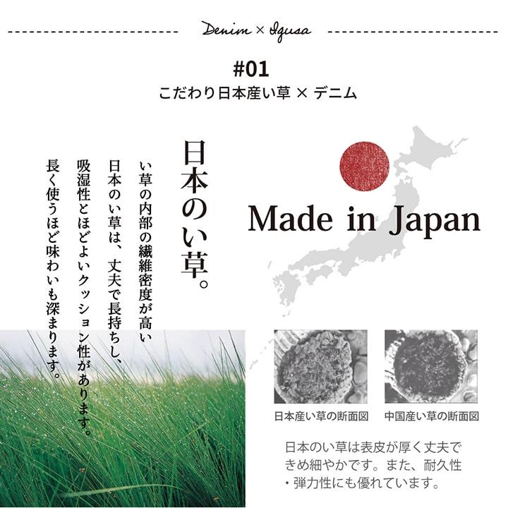 い草クッション マイル D.STYLE カイハラデニム 国産 【送料無料】
