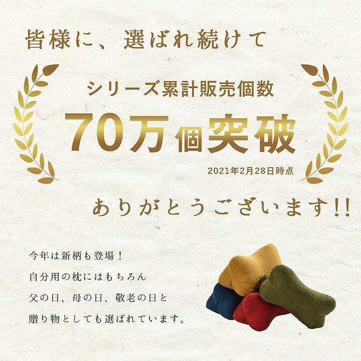 【販売累計70万個突破】低反発 枕 ほね枕 日本製【送料無料】