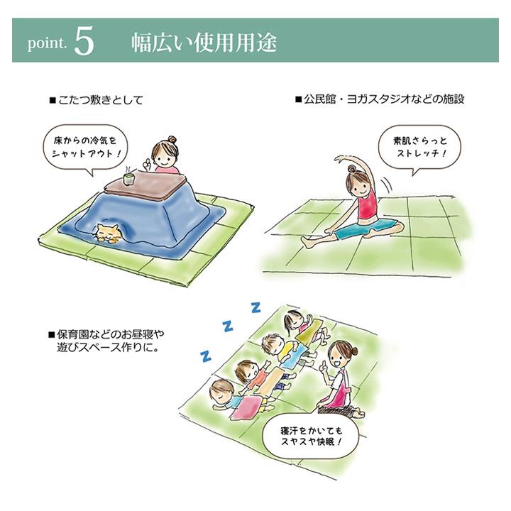 【送料無料】 日本製 3つ折り 防炎 パタパタ畳 置き畳 【連結用ジョイントは別売りです】