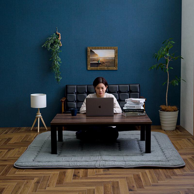 ラグ モデルノ 40mm厚敷 こたつ敷き布団【送料無料】