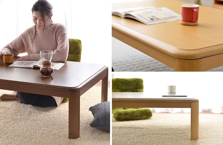 【送料無料】先染めこたつ2点セット こたつテーブル+こたつ布団