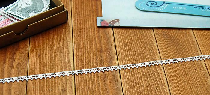 極細0.5cm幅オフ白トーションレース(1m)