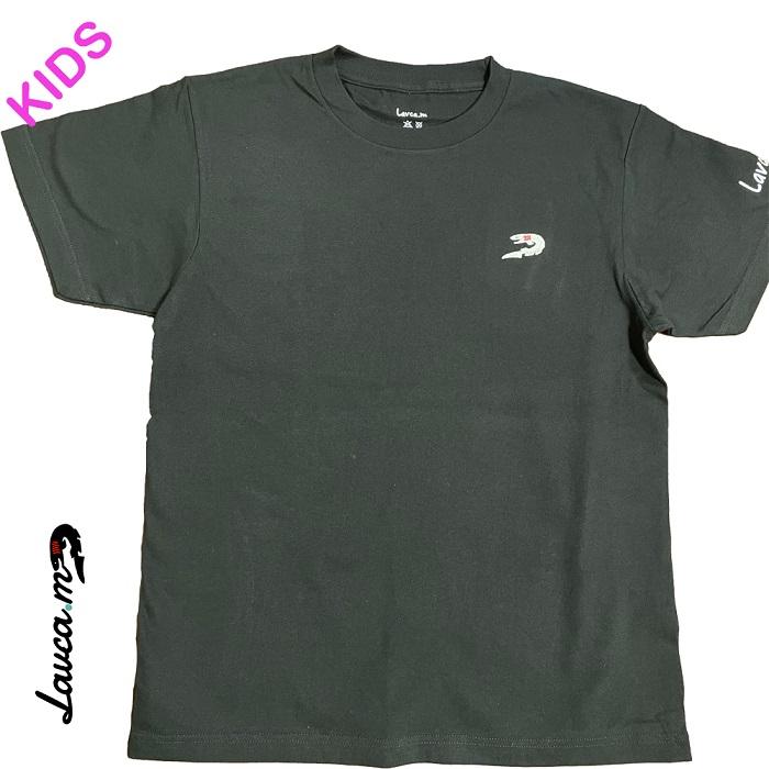 ラブカ(刺繍) Tシャツ(黒/子供用)