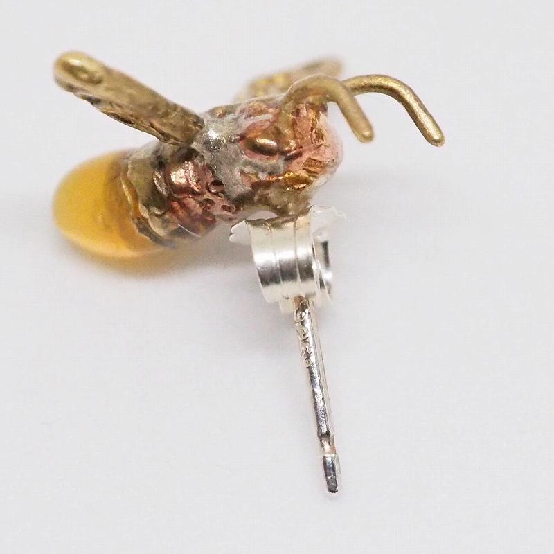ニホンミツバチ(片耳用)(ピアス・イヤリング)