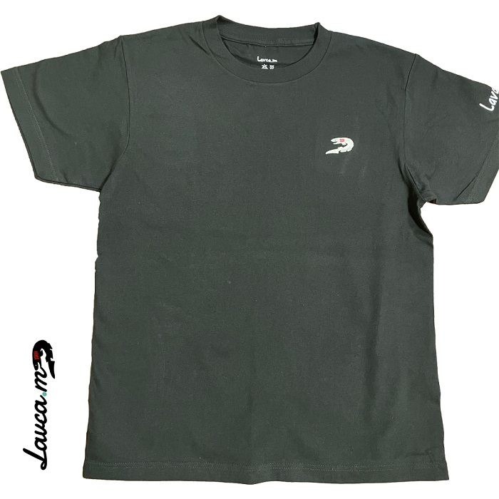 ラブカ(刺繍) Tシャツ(黒/大人用)