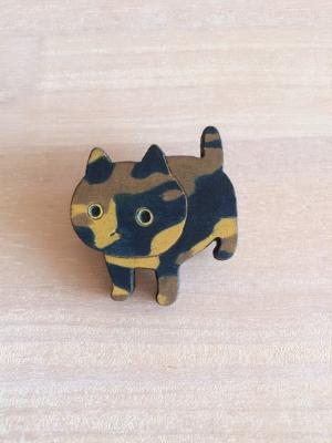 さび猫ブローチ