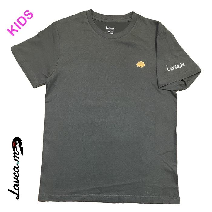 めんだこ(刺繍) Tシャツ(黒/子供用)