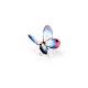 ガラスの様なスカシジャノメのピアス ピンク×青