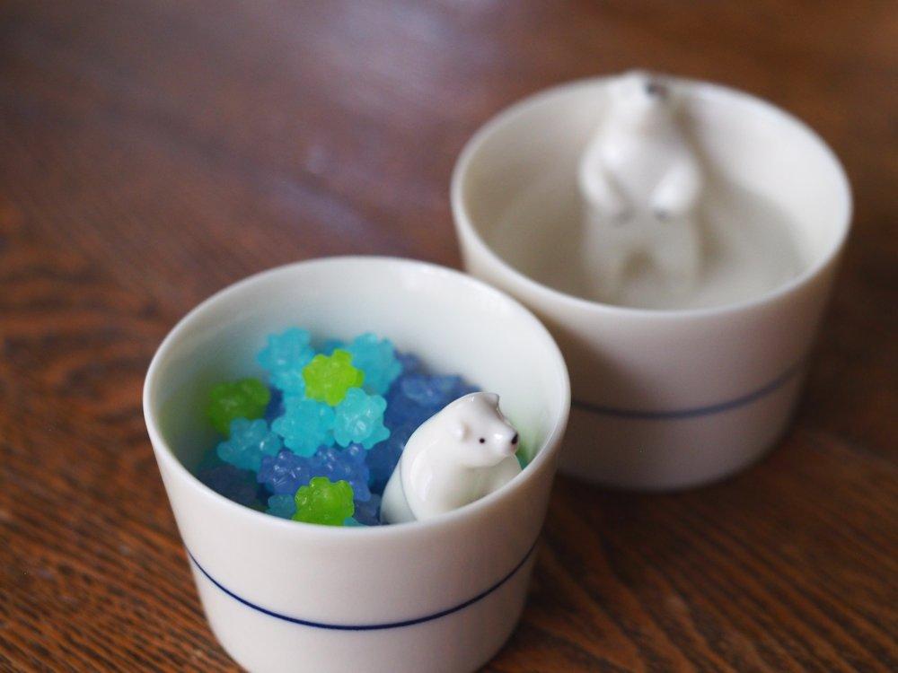 シロクマの熊五郎 お猪口1・2号set