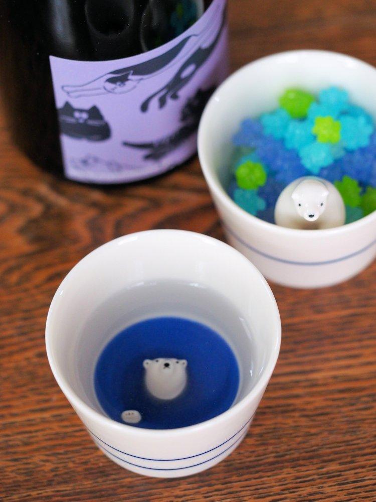 シロクマの熊五郎 お猪口1・3号set