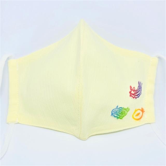 夏向け 涼感いきものマスク:ウミウシ イエロー
