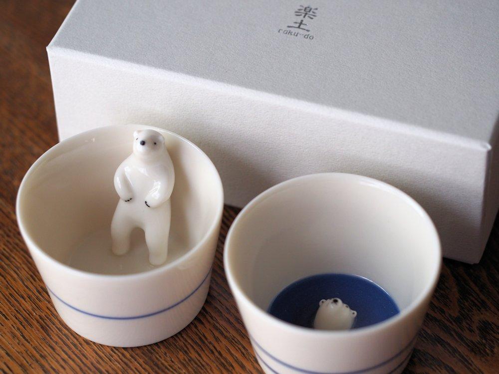 シロクマの熊五郎 お猪口2・3号set
