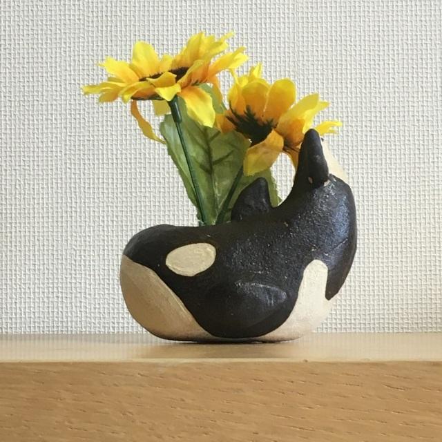 シャチ花器