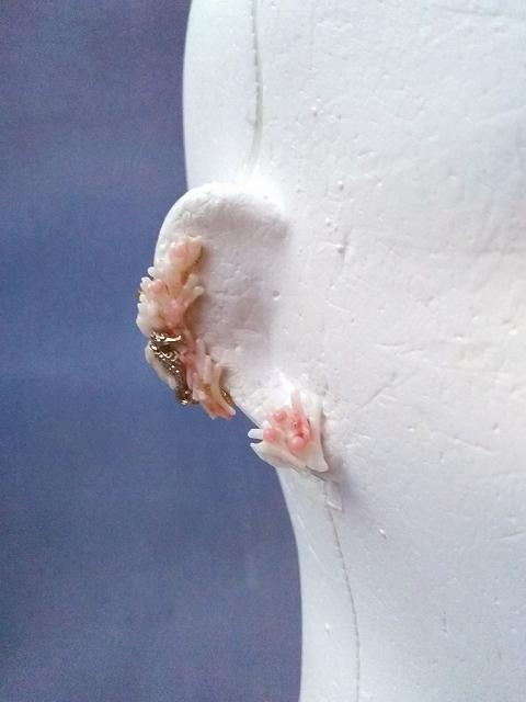 枝珊瑚のイヤリング(白)