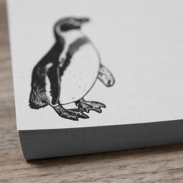 再生紙スクエアメモ ペンギン
