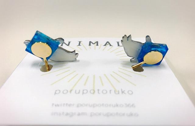 【いきもーる限定販売】空飛ぶケープペンギンイヤリング