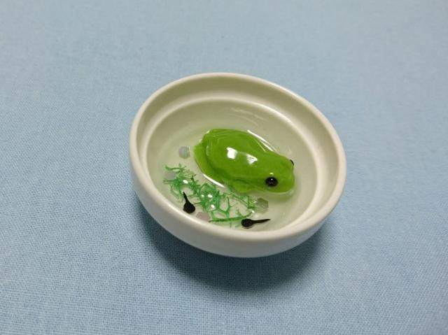 カエルの水浴びマグネット(ボウル)