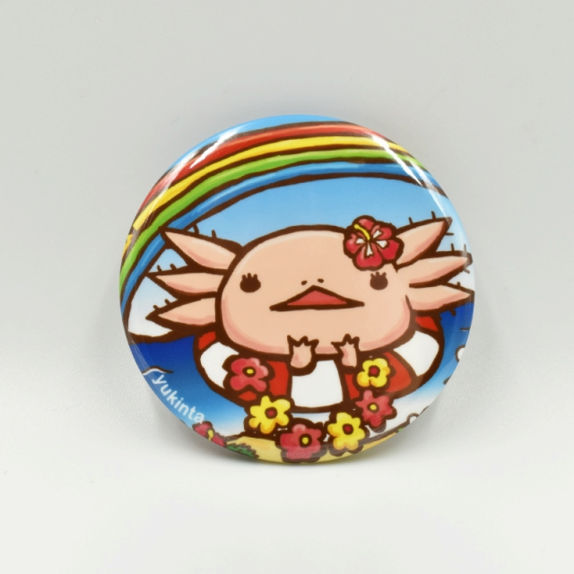 ウーパーちゃん缶バッジ44mm(ハワイアン)