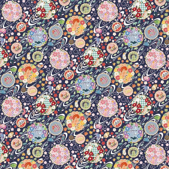 ウミウシ和柄風呂敷(2色)