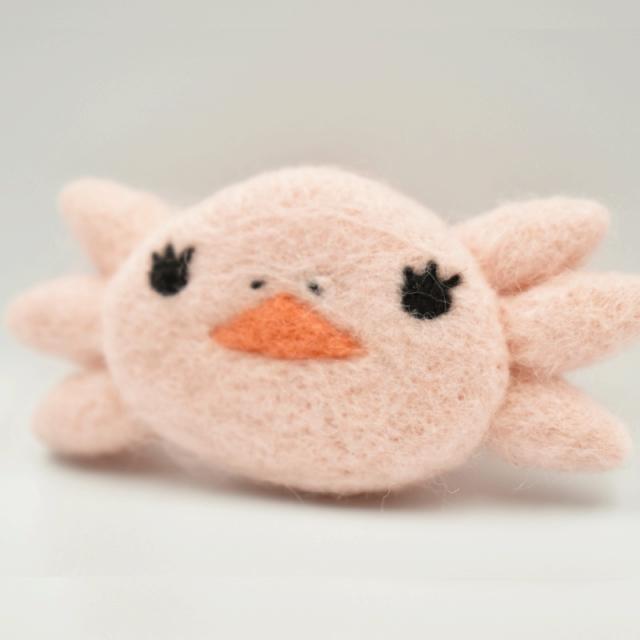 ウーパーちゃんふんわりマグネット(ピンク)
