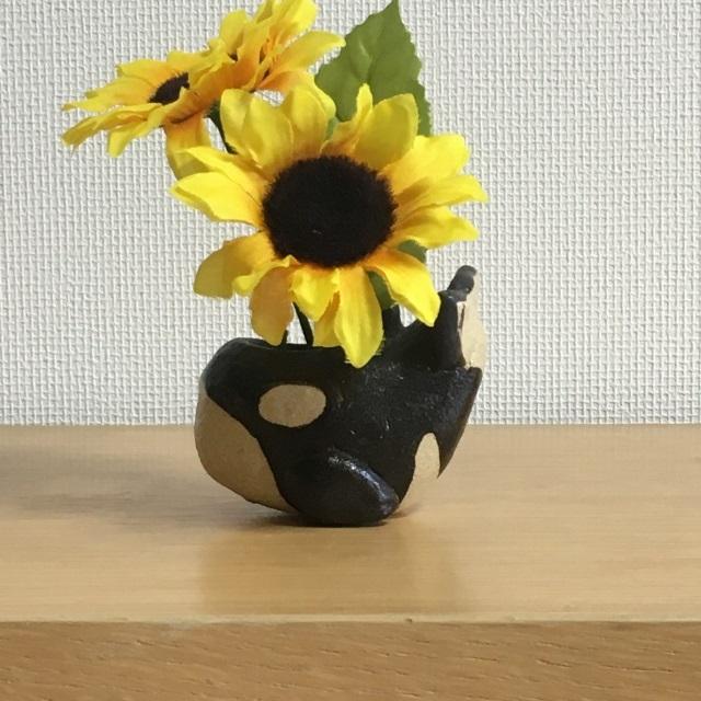 シャチ花器(小)
