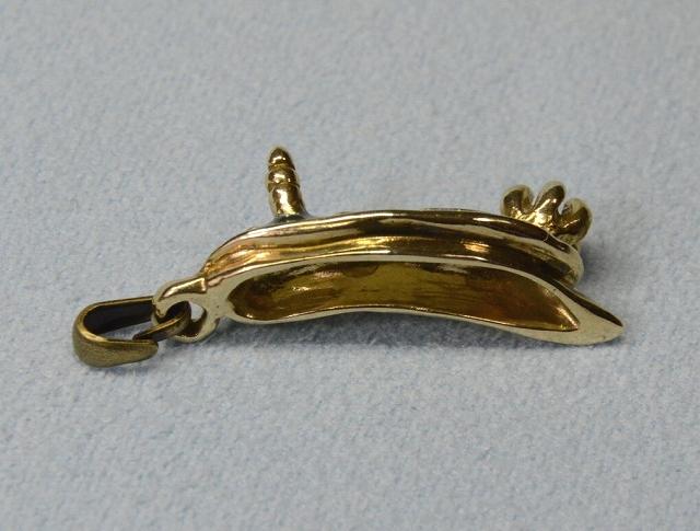 アオウミウシ真鍮ペンダントヘッド