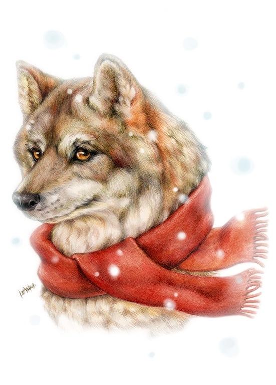オオカミポストカード