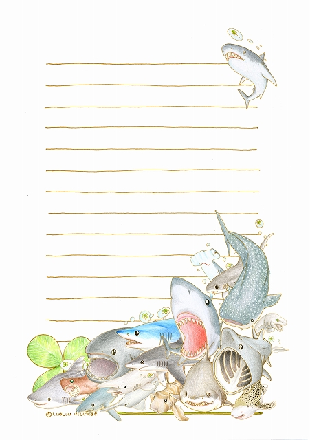 アニマルレターセットシリーズ(サメ)