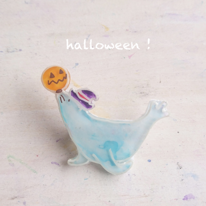 【サンシャイン水族館オリジナル】Halloween アシカブローチ