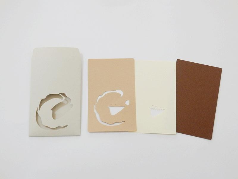 切り絵でつくるぽち袋型メッセージカード 「フクロウナギ」