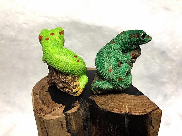 オオヒルヤモリ(フィギュア) 緑色