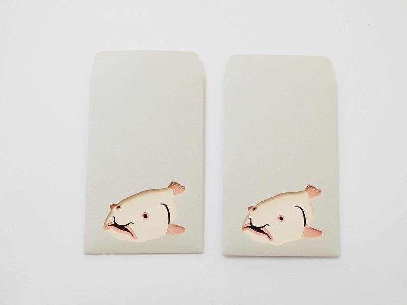 切り絵でつくるぽち袋型メッセージカード 「ニュウドウカジカ」
