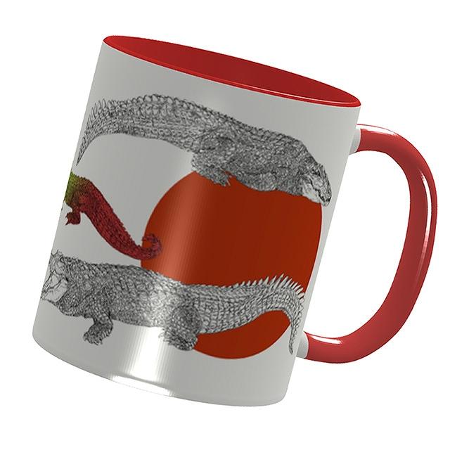 【いきもーる限定販売】WANIマグカップ[red]