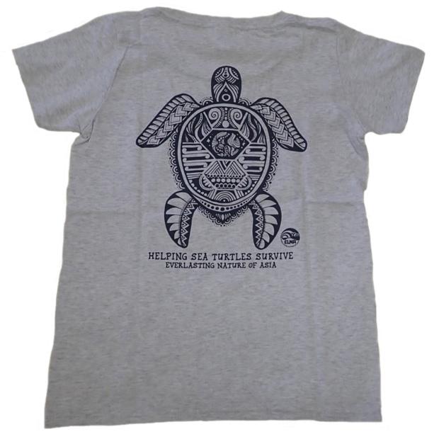 ウミガメTシャツ アッシュ 女性用(Mサイズ)